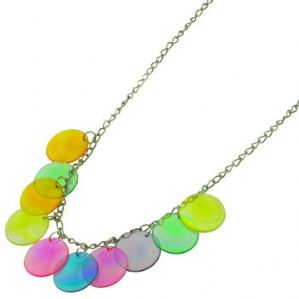 Colourful disc necklace and earring set - ex high street  BOGOF (Code 0896)